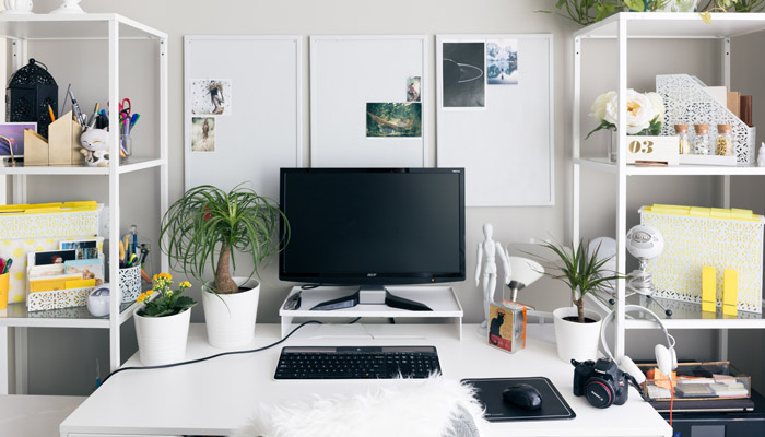 A home office that looks clean and professional