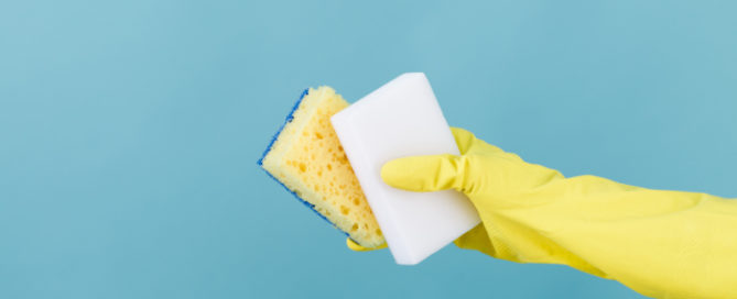Magic erasers vs. conventional sponges