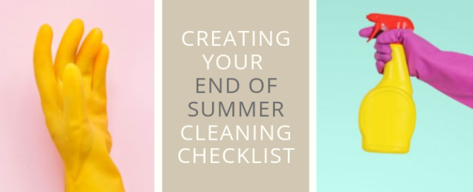 End of Summer Cleaning Checklist